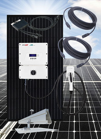 EV Solar Charging Systems With US Made Solar Panels